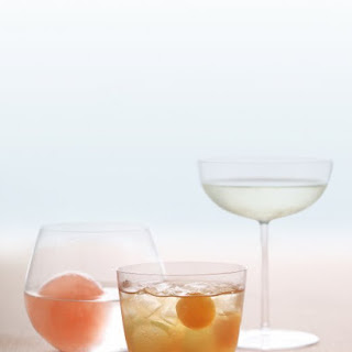 Rum Punch with Melon Balls.