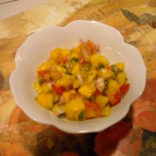 Easy Mango Salsa.