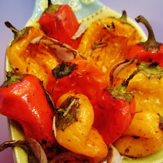 Balsamic Roasted Mini Peppers.