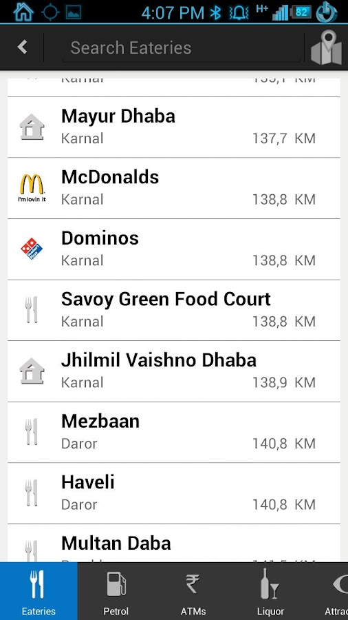 ixigo road trips dhabas stops - screenshot