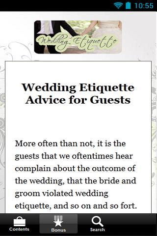 Wedding Etiquette Secrets-FREE - screenshot