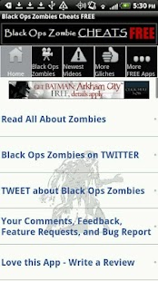 Black Ops Zombies Cheats FREE - screenshot thumbnail