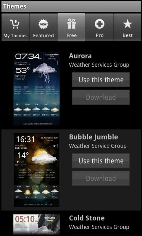 Weather Services - screenshot