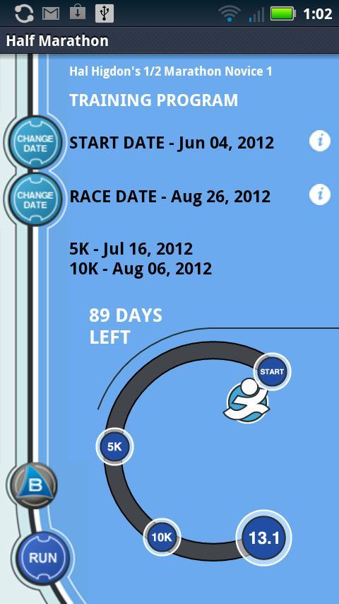 Hal Higdon's 1/2 Marathon - N1- screenshot