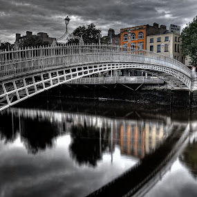 Hapenny bridge by Paul Holmes - City,  Street & Park  Historic Districts