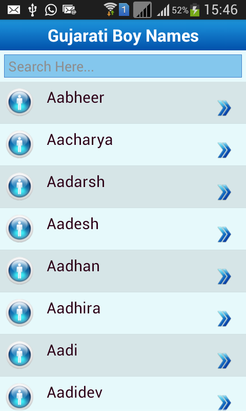 Gujarati Baby Names Meaning Screenshot