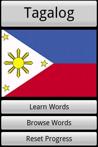 Tagalog Vocabulary Quiz- screenshot