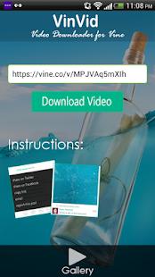 App Vinvid Downloader(forVine) APK for Windows Phone