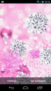 Diamante Rosa Papel de Parede - screenshot thumbnail