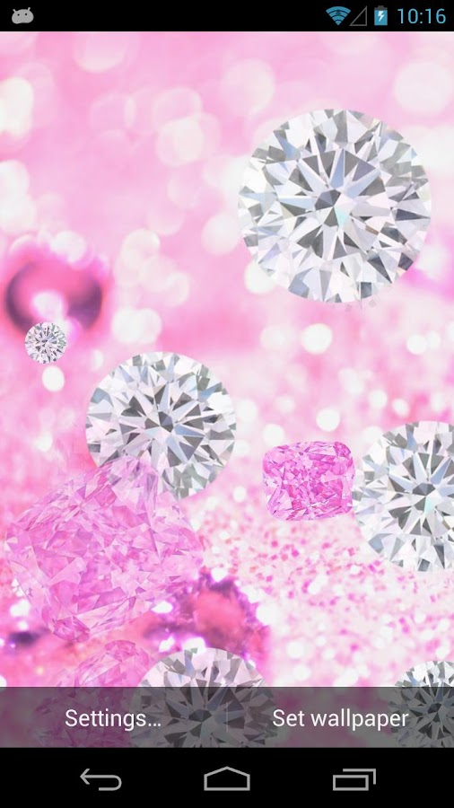Pink Diamonds Live Wallpaper - screenshot