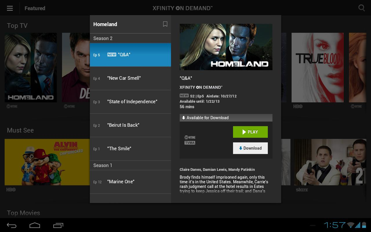 XFINITY TV Go - screenshot