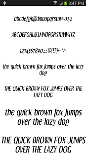 Fonts for Android 50 #1 - screenshot thumbnail