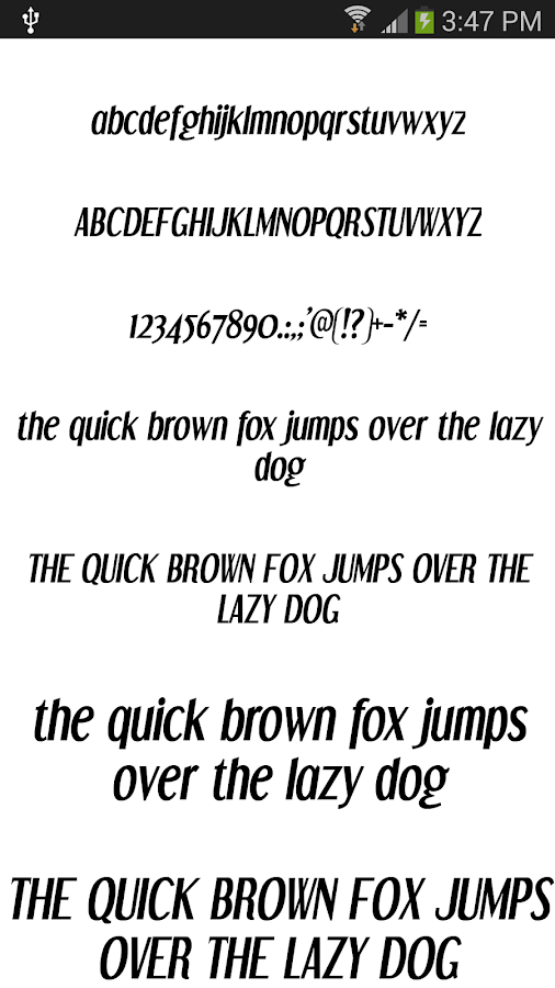 Fonts for Android 50 #1 - screenshot
