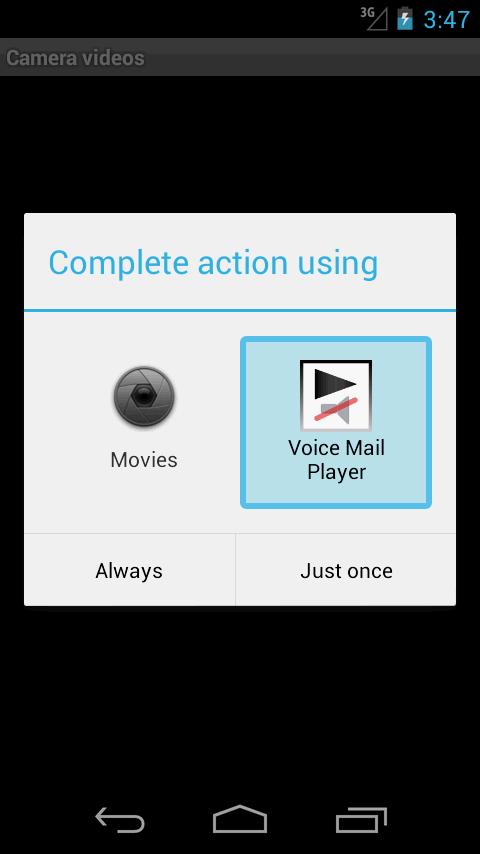 Voice Mail Player (earpiece) screenshot #2