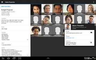 Screenshot of IBM Connections Meetings
