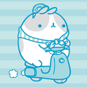 Molang IceCream Blue Atom icon