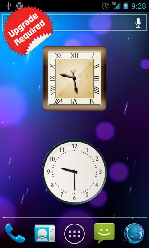 Android Clock Widget - screenshot