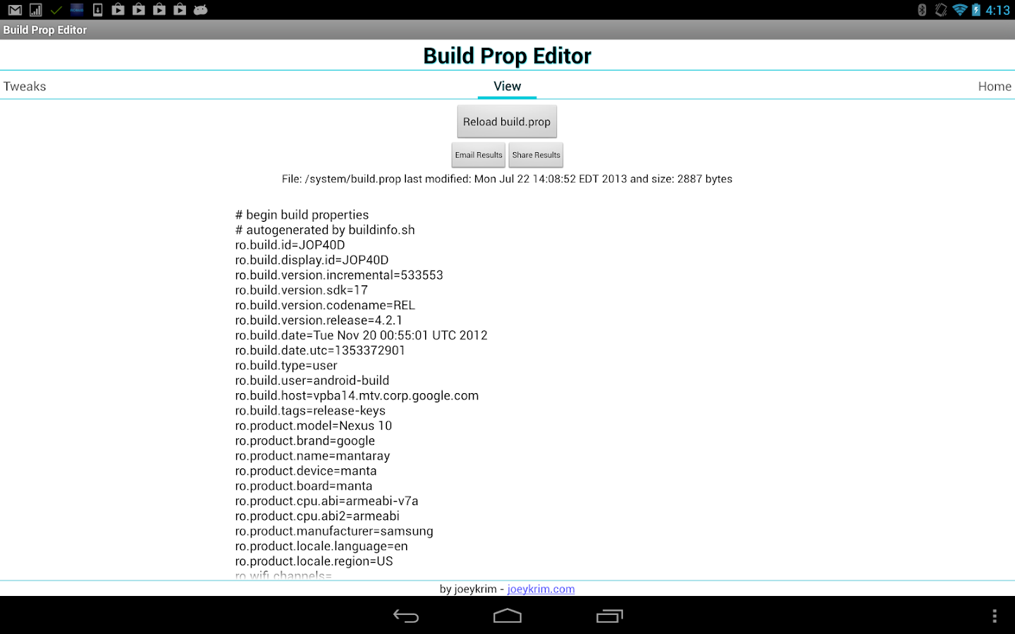 Build Prop Editor- screenshot