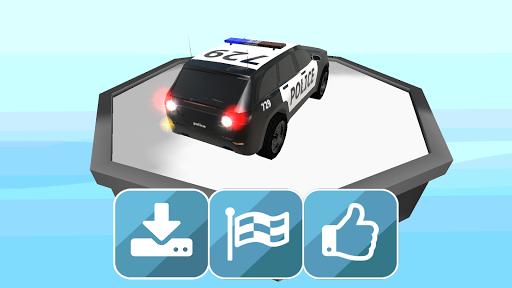 警察 汽車 停車 3D