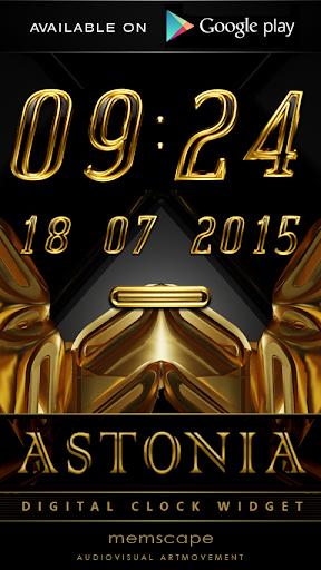 【免費娛樂App】ASTONIA Luxury Clock Widget-APP點子