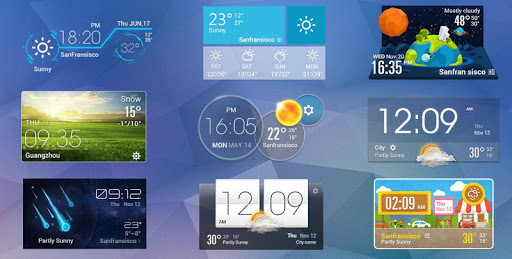 Live weather & Clock Widget Apk apps 3