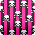 black and pink skull wallpaper icon