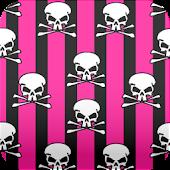 black and pink skull wallpaper