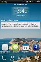 Screenshot of Spanish ortographic rules