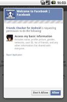 Screenshot of Friends Checker for Facebook