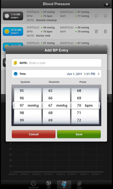Health Tracker Pro for Tablets - screenshot