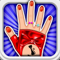 Dress up -Art nail girls icon