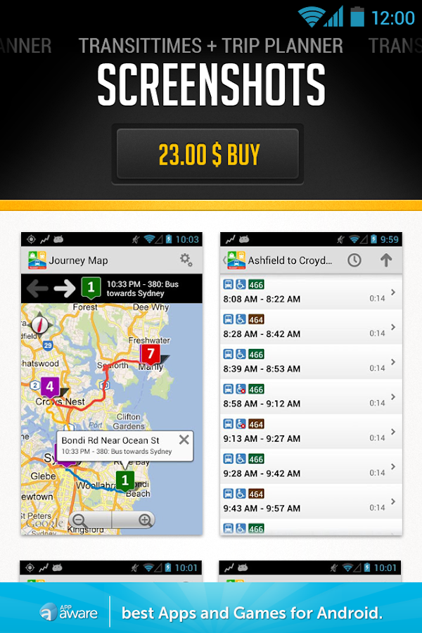 Apps by Place - screenshot
