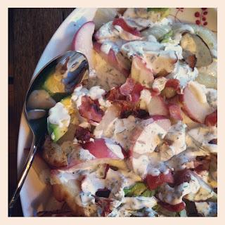 Grilled Peach, Onion, and Avocado Salad Recipe