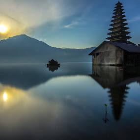 Pura (Temple) Jati, Kintamani Bali by Ade Irgha - Buildings & Architecture Other Exteriors ( temple, batur lake, kintamani, explorebali, sunrise )