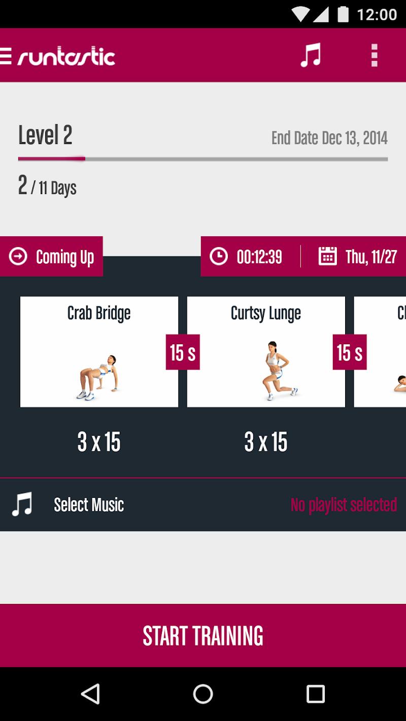 Runtastic Butt Trainer Workout Screenshot