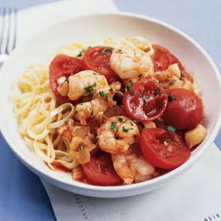 Shrimp and Scallop Arrabbiata.
