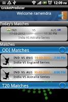 Screenshot of Cricket Predictor