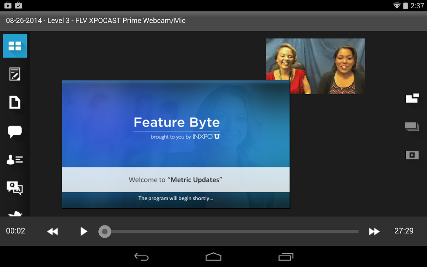 XPOCAST- screenshot
