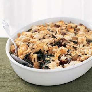 Baked Pasta with Dandelion Greens & Sausage