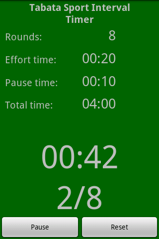 Tabata Sport Interval Timer - screenshot