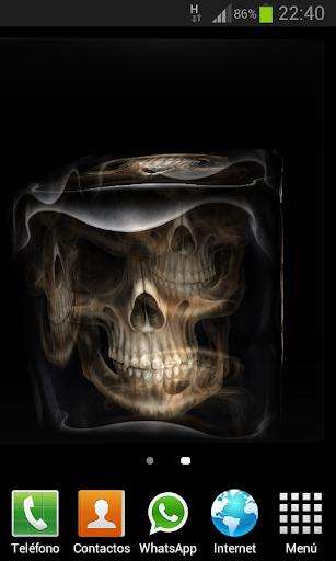 Skulls Cube 3D LWP