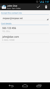 bizCard Manager FREE/SMS vCard - screenshot thumbnail