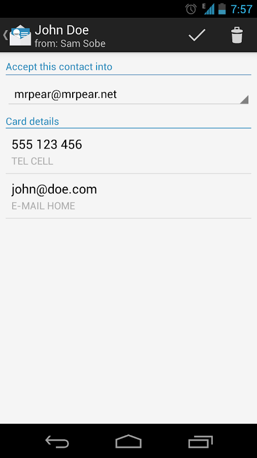 bizCard Manager FREE/MMS vCard- screenshot