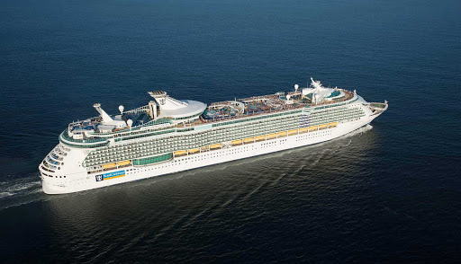 Freedom-of-the-Seas-at-sea - Freedom of the Seas sails to the Western and Eastern Caribbean, including Jamaica, Bahamas, U.S. Virgin Islands, Caymans and Cozumel, Mexico.