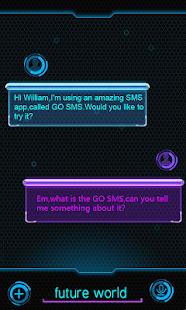GO SMS PRO FUTUREWORLD THEME - screenshot thumbnail