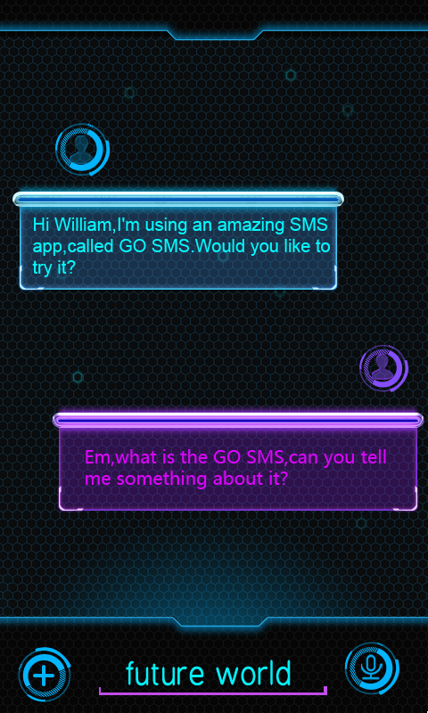 GO SMS PRO FUTUREWORLD THEME- screenshot