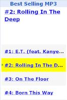 Screenshot of Best Selling MP3