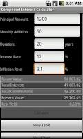 Screenshot of Compound Interest Calculator