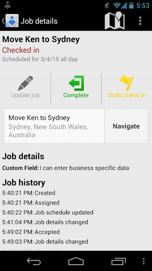 Google Coordinate- screenshot