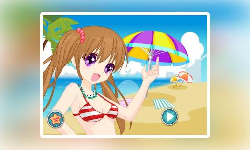 阳光女孩沙滩装扮